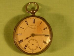 John Forrest London Silver Cased Pocket Watch Chronometer Maker to the Admiralty