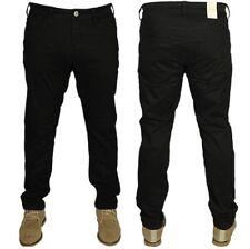 JACK & JONES Mens Slim Fit Designer Pants Jeans Black Trouser Waist Size 28-36