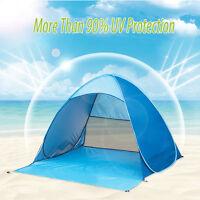 New Portable Beach Tent Shelter Sun UV Shade Pop Up Canopy Family Camping Picnic