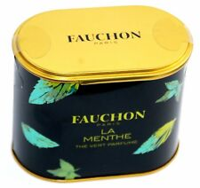 FAUCHON PARIS FRANCE THE LA MENTHE LOOSE GREEN MINT TEA in FANCY METAL TIN. NIP