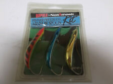 Older Finland Made Rapala Weedless Minnow Spoon Kit,RMS-7, 3 Colors