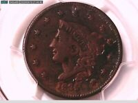 1835 Large Cent PCGS Genuine EXC. Corrosion - VF Detail Head 1836 39180726 Video
