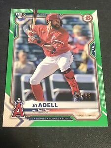 2021 Bowman Paper Jo Adell Rookie Card  #10 green 24/99
