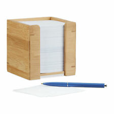 Zettelbox Bambus Zettelkasten Zettelblock Notizzettelbox Zettelklotz Notizklotz