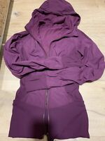 Lululemon Dance Studio Jacket III  Plum Reversible, sz 2, Retail $150