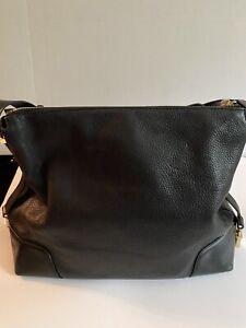Authentic Michael Kors NWT Crosby Black Large Shoulder Leather Bag
