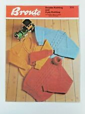 """CHILD VINTAGE KNITTING PATTERN,  JUMPERS, 22-34"""". FOR CHARITY 🎁"""