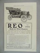 REO Automobile PRINT AD - 1905 ~~ auto, motor car