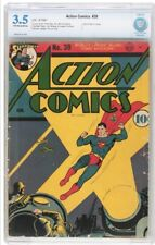 Action Comics 39 CBCS 3.5 OW/W Pages! Awesome World War 2 Cover!