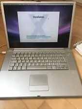 powerbook g4 1 GHz 15,6 Zoll Mac OS 10.5.8 WLAN 60 GB Super Drive Vintage