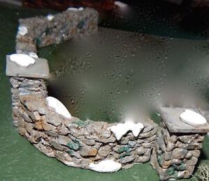 Curved ROCK WALL, Christmas VILLAGE display platform base, dept 56 lemax fence