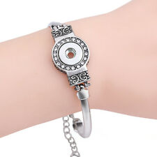 European crystal Metal bracelets drill fit for noosa 12mm snaps charm button