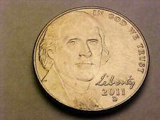 2011 D Jefferson Nickel Obverse & Reverse Double Die Error Coin