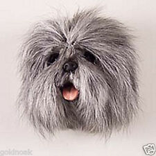 (1) GRAY LHASA APSO DOG MAGNET! Very realistic collectible fur Magnets.
