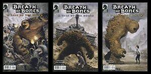 Breath of Bones Tale of Golem Comic Set 1-2-3 WW2 Nazi-Killing Monster Horror