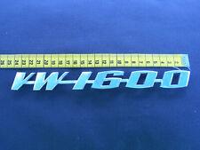 """Volkswagen :  """" VW 1600"""" Emblem, Schriftzug  :   Vintage, Oldtimer"""