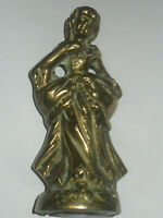 VINTAGE  HEAVY BRASS VICTORIAN LADY DETAILED SCULPTURE LADY FIGURE