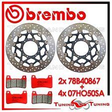 Dischi Freno Anteriore BREMBO+Pastiglie BREMBO SA HONDA CB 1000 R 2014 2015 15
