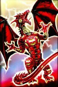 Max Protection 50 MTG standard Card Sleeves Robo Dragon Fury Red