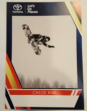 Chloe Kim Snowboard half pipe GOLD medal 2018 Olympics sinature card MINT
