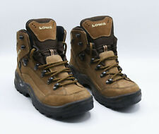 Lowa Womens Renegade GTX Mid Ws Nubuck Taupe-Brown Hiking Boots US-Sz 6 UK-4
