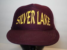 Vintage 1980s SILVER LAKE KANSAS  Football Advertising  SNAPBACK TRUCKER HAT CAP