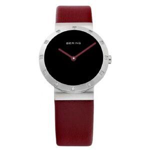 Bering Ladies Watch Wristwatch Slim Ceramic - 10629-604 Leather