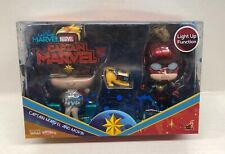 Hot Toys Cosbaby Captain Marvel & Movbi Collectible Figure Set Light Up Function
