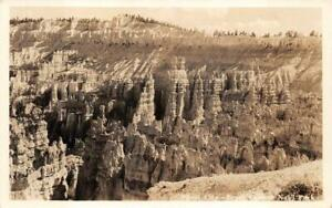 RPPC BRYCE CANYON NATIONAL PARK UNION PACIFIC TRAIN REAL PHOTO POSTCARD (1930s)