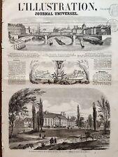 L'ILLUSTRATION 1858 N 801 LE DOMAINE IMPERIAL DE LA MOTTE-BEUVRON, EN SOLOGNE