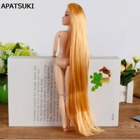 "1:6 Doll Extremely Long Golden Hair DIY Accessories For 11.5"" Dollhouse & Body"