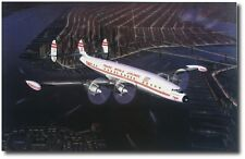 """Home for the Holidays by Mike Machat - Lockheed 1049G """"Connie"""" - Canvas Print"""