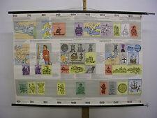 Schulwandbild Geschichte Moyen Âge Epoque des Chevaliers 600-1500 118x83cm ~1960
