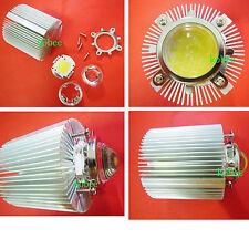 100W 100 Watt White High Power LED Light + reflector lens Kit + Heatsink Cooler