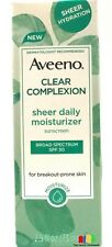Aveeno Clear Complexion Sheer Daily Moisturizer SPF 30 2.5 oz
