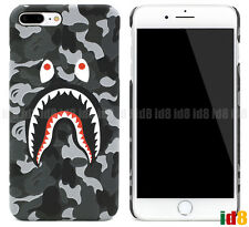 US SELLER- A Bathing Ape Bape ABC Camo Shark Phone Case For iPhone 8 7 Plus 6 6S