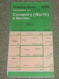 Ordnance Survey Pathfinder map sheet 935 (SP 28/38) Coventry North & Meriden '94