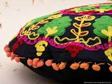 Suzani Hand Embroidered Indian Cotton Cushion Cover Sham Pillow Case Cover Gypsy