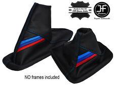 BLEU COUTURE CUIR SOUFFLET LEVIER VITESSE ET FREIN POUR BMW E46 E36 M RAYURES