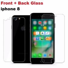 Front and Back Genuine Tempered glass screen protector film for iPhone 8