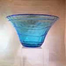Blue Glass Swirl Centerpiece Bowl-Elegant