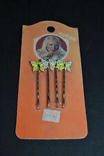 VINTAGE 70/80'S - Barrettes à cheveux papillons dans leur emballage d'origine