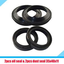 1 Set Motorcycle Front Fork Damper Shock Absorber Oil Seal & Dust Seal Kit New