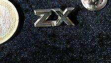 Citroen Pin Badge ZX Logo Schriftzug Silber massiv