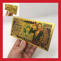 CARTE COLLECTOR BILLET TICKET FIGURINE ONE PIECE MANGA MONKEY LUFFY GOLD OR JEU