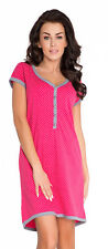Maternity nursing pregnancy 100% cotton nightdress nightshirt 8 10 12 14 colours