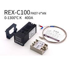 Pid Rex C100 Temperature Controller Ssr 40da K Thermocouple Heat Sink Kit