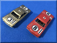TOOTSIETOY RED GOLD CHEVROLET CORVAIR METAL SLOT CAR RUNNERS