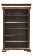 Mahogany 3 Shelf Bookcase Painted in French White With Cook's Blue Interior