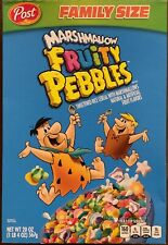NEW POST FAMILY SIZE MARSHMALLOW FRUITY PEBBLES CEREAL 20 OZ BOX FREE SHIPPING